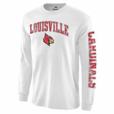 Louisville Cardinals White Distressed Arch Over Logo Long Sleeve Hit T-Shirt