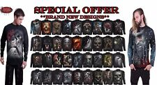 Spiral Direct NEW Skull/Goth/Reaper/Rock/Metal/Xmas/Gift/Long Sleeve T shirt/Top