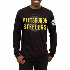 Pittsburgh Steelers Black Fade Route Long Sleeve T-Shirt - NFL