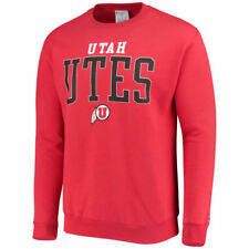 Champion Utah Utes Red Eco Powerblend Expansion Pullover Sweatshirt - College