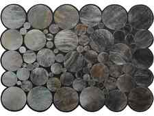 Cowhide rug gray brown patchwork leather Kuhfell Teppich Tapis peau vache CM2