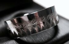 Tungsten Wedding Bands, Mountains Ring, Men's Tungsten Carbide Rings, Mens Rings