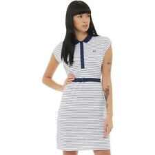 Fred Perry Womens Stripe Belted Pique Dress French Navy 8,10 UK