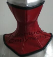 Red Real Leather Over Mouth Neck Corset Posture Collar