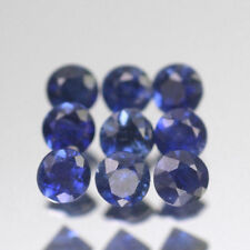 1.3mm Lot 3,5,10,20 pcs Heated only! Round Calibrated Natural Blue SAPPHIRE