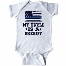 Inktastic Uncle Is A Sheriff Law Enforcement Infant Creeper Niece Nephew Job Hws