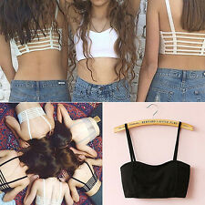 Sexy Women Padded Bra Bralet Vest Bralette Caged Back Cut Out Strappy Crop Top