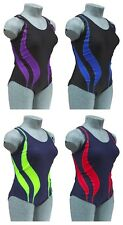 CHEX Mexico Ladies Girls Swimming Costume Swim Suit Racer Strapped Back Lycra