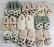 CHILDREN BOYS-GIRLS 100% SHEEP WOOL COZY SLIPPERS MULE AND MOCCASIN STYLE