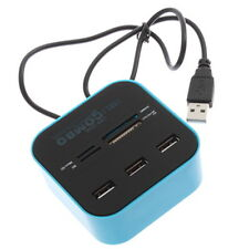All In One Multi-card Reader with 3 ports USB 2.0 hub Combo for SD/MMC/M2/MS @#