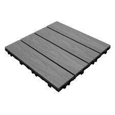 NewTechWood UltraShield Composite Decking Tiles, Low Maintenance Easy Click Fit