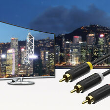 3RCA Male Plug to 3RCA Male Jack Audio Video AV Adapter Cable Lead for HDTV