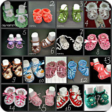 NEWBORN BABY SHOES BOOTIES SANDALS HANDMADE CROCHET MULTIPLE VARIATIONS 0-3MONTH