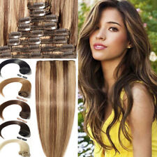 Extra THICK Clip In Remy Human Hair Extension Full Head Double Weft 100% Real UK