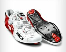 SIDI Wire Carbon Road Cycling Shoes Bike Shoes White/Red Size 39-44 EUR