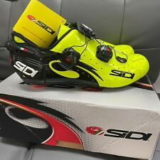 SIDI Wire Carbon Road Cycling Shoes Bike Shoes Yellow Fluo/Black Size 39-44 EUR