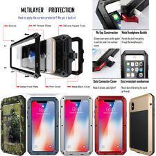 For iPhone Samsung HEAVY DUTY Shockproof Bumper Aluminum Metal Armor Cover Case