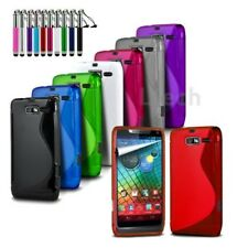 for LG X View / K500n - Silicone S-Line Wave Gel Case Cover & Ret Pen