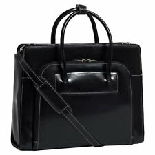 McKlein USA Lake Forest Italian Leather Laptop Briefcase with Removable Sleeve