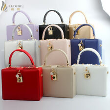 Box Evening Party Handbag Hard Purse Women Clutch Shoulder Bag NEW Chain Wallet