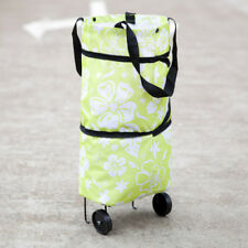Foldable Shopping Trolley Bag Cart Grocery Handbag Rolling Wheels Conventient