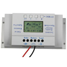 LCD 10/20/30/40A Solar Panel Battery Charge Controller Three-timer 12V 24V Auto