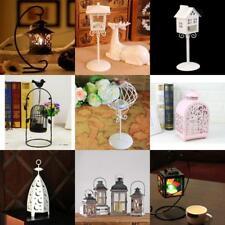 Creative Candle Holder Iron Chandelier Glass Candlestick Lantern Decoration