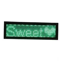 Various Color Programmable LED Light Scrolling Bar Badge Tag Message Sign