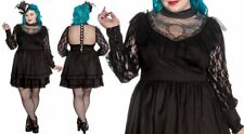 Spin Doctor Nevermore Dress Black Gothic Victorian Lace Formal Buttons PLUS SIZE