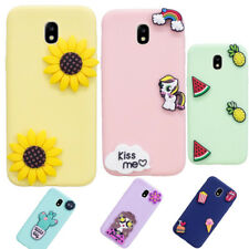 Cute 3D Fruits Flowers Cartoon Silicon Case Cover for Samsung J330/530/730
