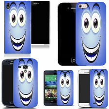 art case cover for many Mobile phones - blue smiley character silicone
