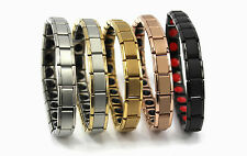 Titanium Bracelet Power Nano Energy Germanium Magnetic Balance Ion Silver 20 NEW