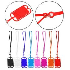 Silicone Lanyard Detachable Cell Phone Case Holder Strap Neck With ID Card Slot