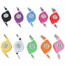 Retractable Micro USB Data Sync Charger Cable Cord Lead For Android HTC Samsung
