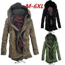 M-6XL Paratrooper Winter Mens Jacket Slim Army Military Field Coat Olive Washed