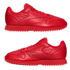 REEBOK CLASSIC LEATHER MONO RIPPLE CASUAL MEN's LEATHER RED AUTHENTIC AUTHENTIC