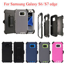 For Samsung Galaxy S7&S6 edge Defender Case With Screen (Belt Clip fit Otterbox)