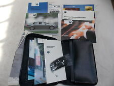 BMW E46 Owners Manual Book Leather Case 2002 OEM 99-05 323 325 328 330