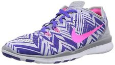 Nike Free 5.0 TR Fit 5 Print Womens Running Shoes Grey Pink Purple 704695 005