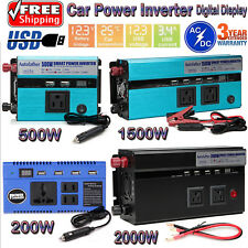 US Portable Car Power Inverter WATT DC 12V to AC 110V Charger Converter Adapter