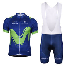 SKY Movistar Bicycle Short Sleeve Bicycle Jersey + Bib Shorts Cycling Suit