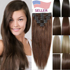 Real Thick Full Head Clip In Hair Extensions OL/Trip/Show/Date woman/girl/lady