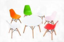 Children's Play Table And Chairs Set Little Eames DSW Style In White