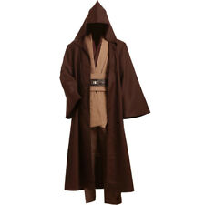 Star Wars Obi Wan Kenobi Jedi Tunic Cosplay Halloween Costume New Robe Brown