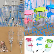 Pets Dog Puppy Cat Rabbit Hanging Drinking Bottle Water Feeder Stainless Pipe