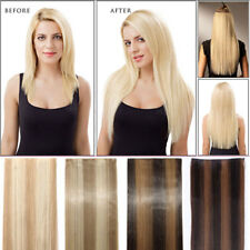 One Pieces 5 Clips Women 3/4Full Head Clip in Hair Extension Ombre Curly Weft US