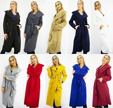 Women ladies Italian Long Coat -Waterfal Jacket