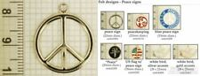 Peace sign & symbol decorative fobs, various designs & keychain options
