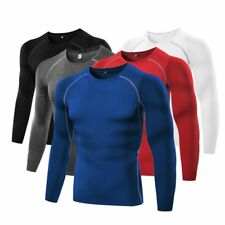 New Men Training Tight Skin Compression Running Top Jumper Skins Tops Shirts USa