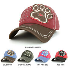 Dog PAW Embroidered Stitch Multi Color Baseball Cap - FREE SHIPPING